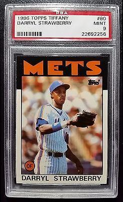 1986 Topps Tiffany Darryl Strawberry #80 PSA 9 Mint New York Mets