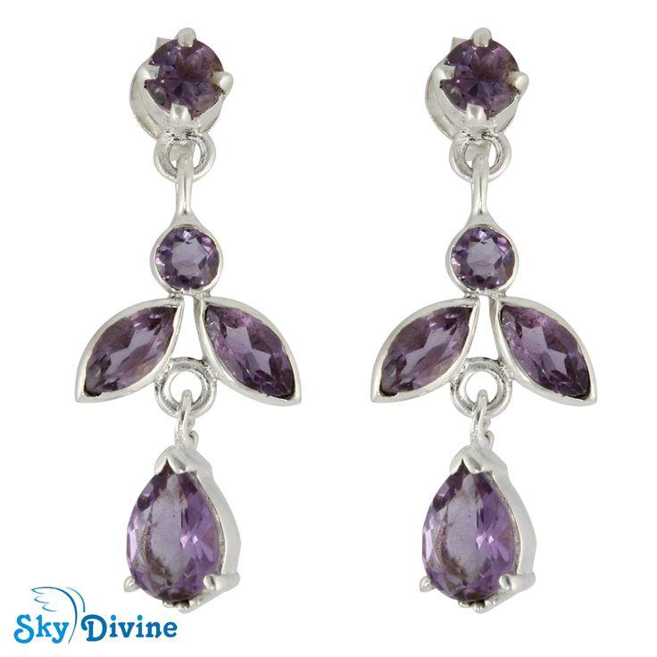 Sky Divine - 925 Sterling Silver amethyst Earring SDAER19a SkyDivine Jewellery, $48.11 (http://www.skydivine.com.au/925-sterling-silver-amethyst-earring-sdaer19a-skydivine-jewellery/)