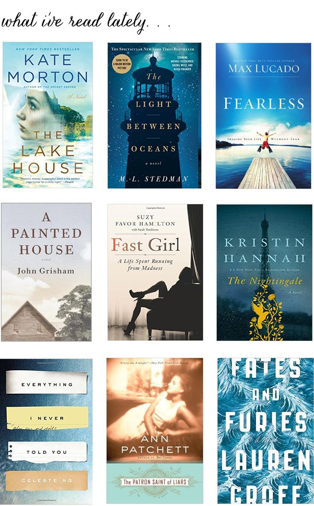 What I've Read Lately (Summer Reading)