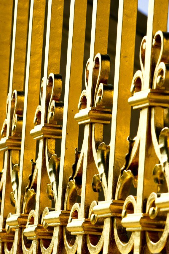 Paris Photograph Marie Antoinette Abstract French Architecture Gold Gates Home Decor in the Palace of Versailles in France Travel Art Print by HenaTayebPhotography $15
