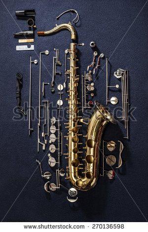 Tenor saxophone - exploded view (photo Hedzun Vasyl)