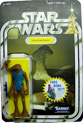 Kenner Star Wars Figure - Hammerhead - the start of the Boba Fett mail in offer