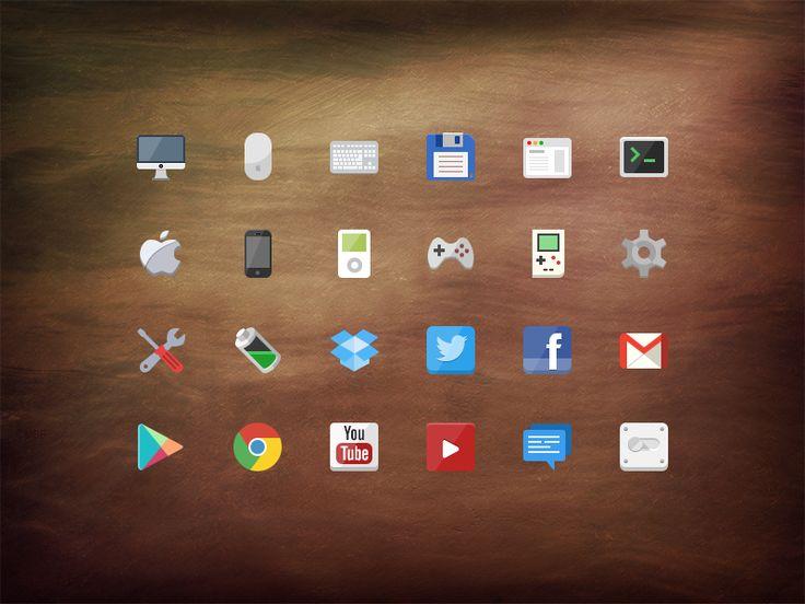 @2x Flat icon set [PSD] by Stafie Anatolie
