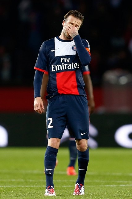 David Beckhams last football game for PSG