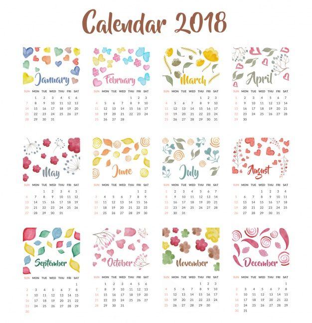 Resultado de imagen de calendarios para imprimir gratis 2018