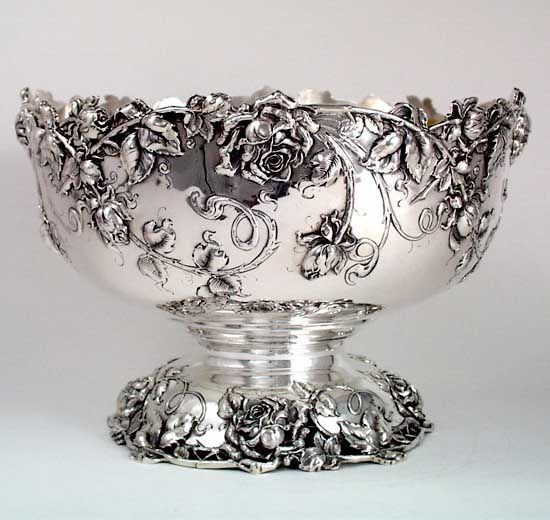 Bailey, Banks & Biddle Art Nouveau Sterling Punch Bowl