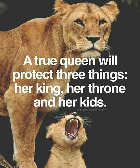 My boyfriend is my King, my throne is my self-respect, and my future kids will exist eventually. Fuck with any of these things and we will be having a big problem.