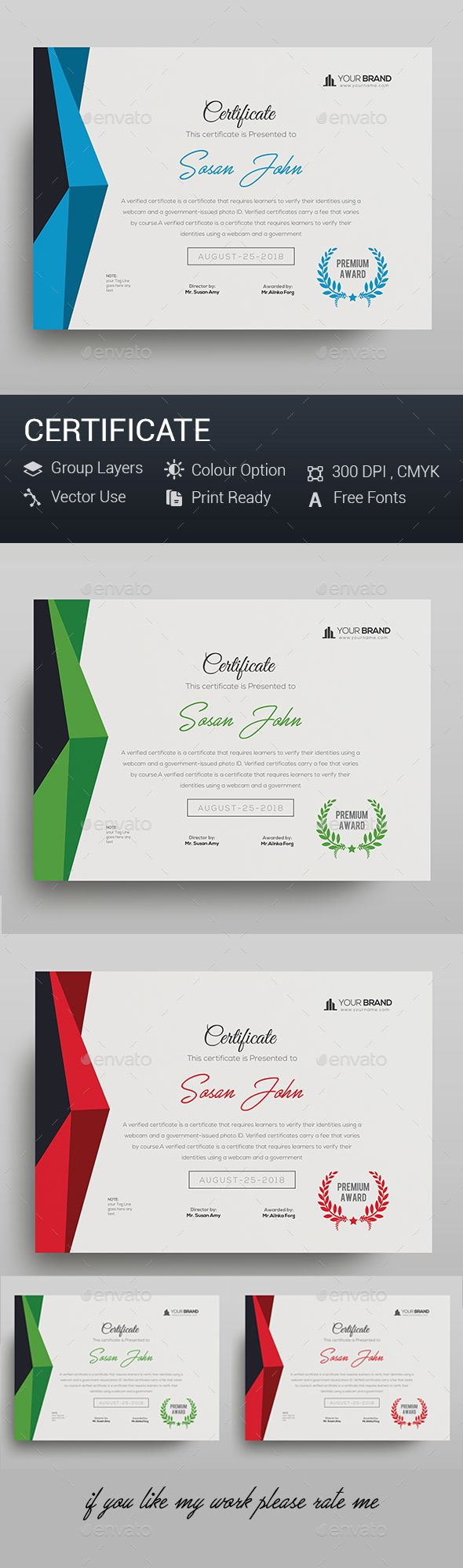#Certificate - Certificates Stationery Download here: https://graphicriver.net/item/certificate/20286955?ref=alena994