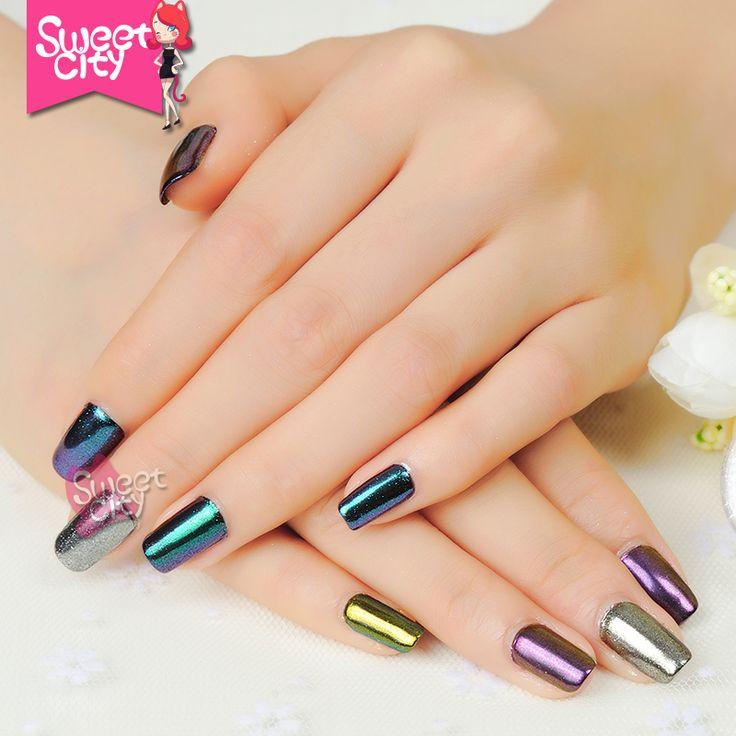 Brillo de uñas DIY Shinning Chrome Mirror Hybird Polvo De Gel esmalte de Uñas de Metal Uñas de Arte Consejo Decoración Polvo de Pigmento