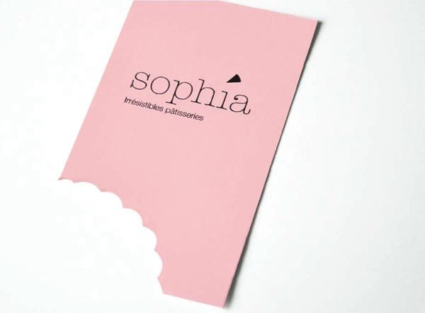 Cute business card bite/cutout #bakery #pink