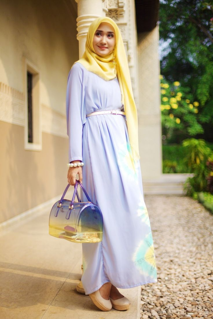 style dress hijab santai