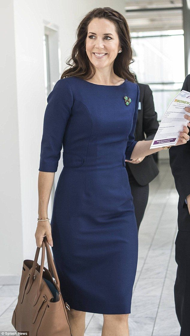 Old favourite: The Crown Princess Mary has gained a reputation for re-styling her most-beloved outfits