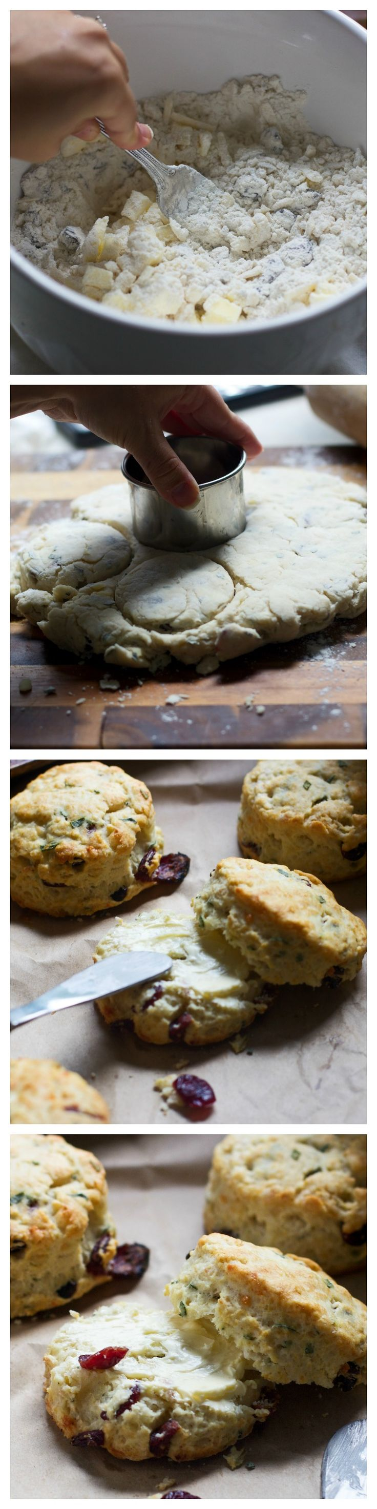 Super Easy Gruyere, Cranberry and Sage Buttermilk Biscuits - The perfect alternative to rolls on your holiday table! #inspiredgathering #spon