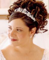 wedding hairstyles with tiara veil - Google Search