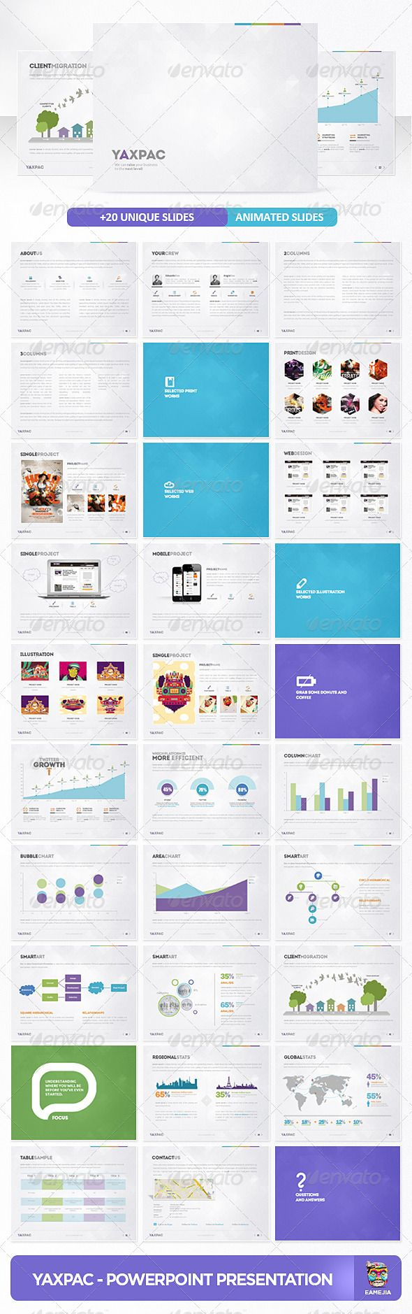 Yaxpac PowerPoint Presentation Template 3396 : wpthems