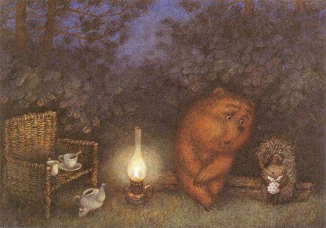 'Hedgehog in the Fog' (Sergei Kozlov) by Franchesca Yarbusova
