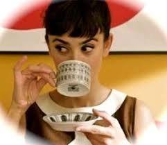 Bilderesultat for audrey hepburn coffee