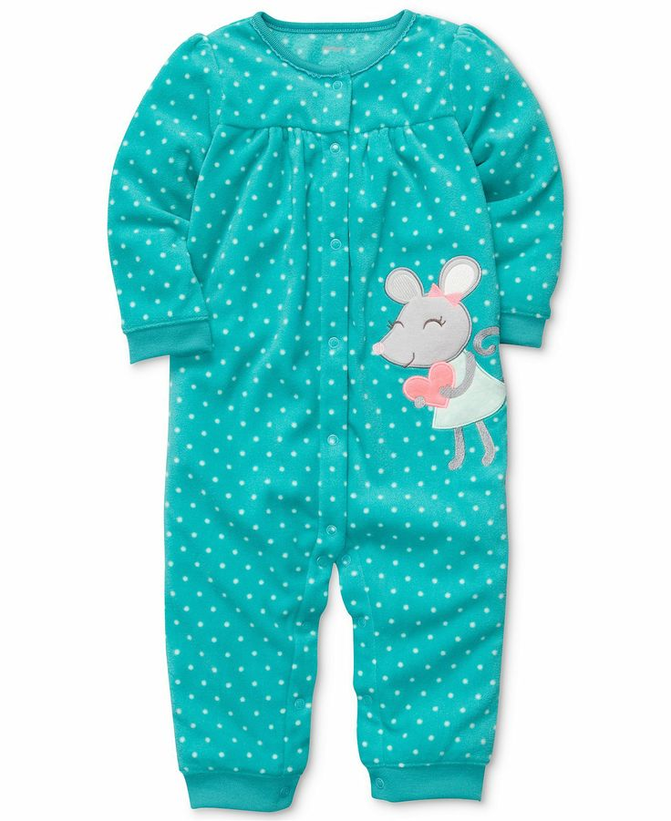 Carter Baby Romper Girls Polka Dot Coverall Kids
