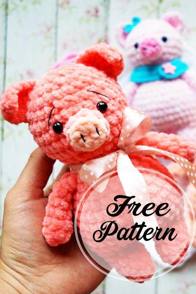 Hakeln Mini Schwein Amigurumi Freies Muster Teil 3 Amigurumi