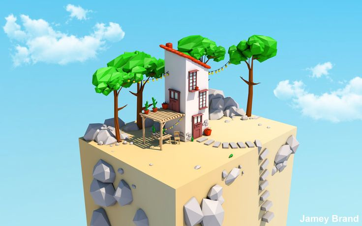 Low Poly Speed Art - House