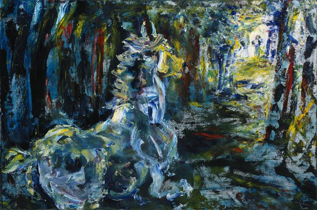 THE WHITE HORSE by Jack B. Yeats