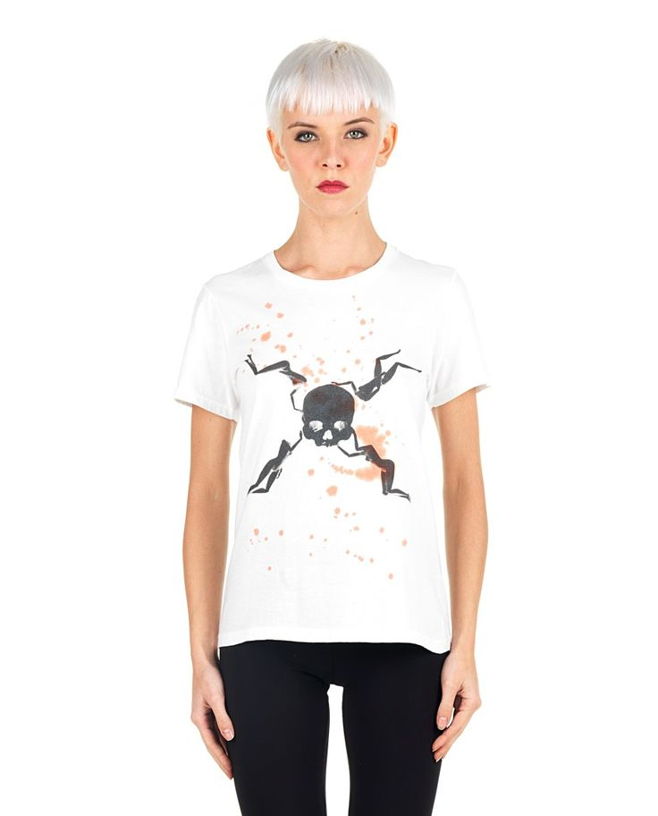 SIL White T-shirt  Pirates/Dexter print round neckline short sleeves  back logo 100% CO
