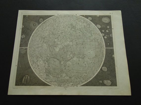 old ASTRONOMY print 1849 original antique by DecorativePrints