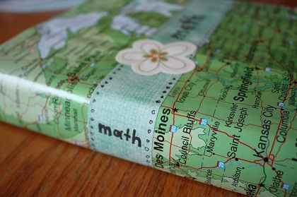 Back to School Recycled Book Cover via @Holidays Central