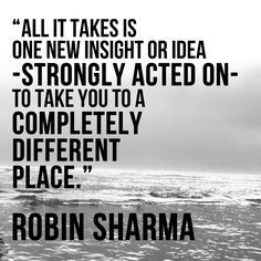 Insight plus action has the power to shift consciousness and create miracles.
