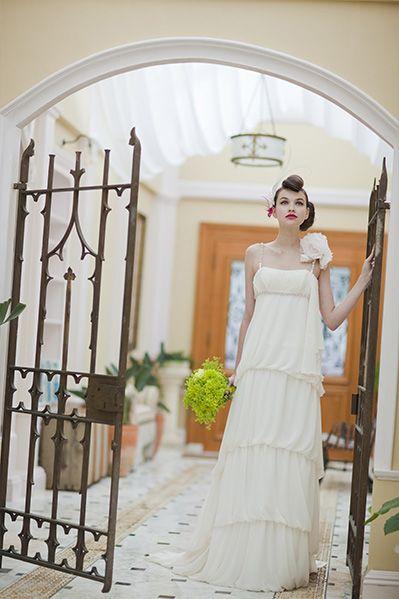 キュート❤マーメイドドレス・スレンダードレスにオススメの髪型・ポンパドールの参考一覧❤