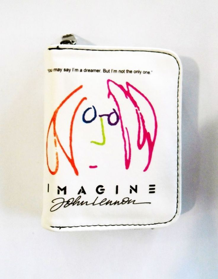 Imagine John Lennon Wallet Zippered Pouch, Pleather Vegan Wallet Birthday Gift #Unbranded #Envelope