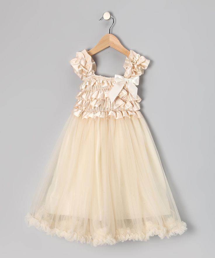 Sewing inspiration  Cream Chiffon Overlay Dress - Toddler & Girls