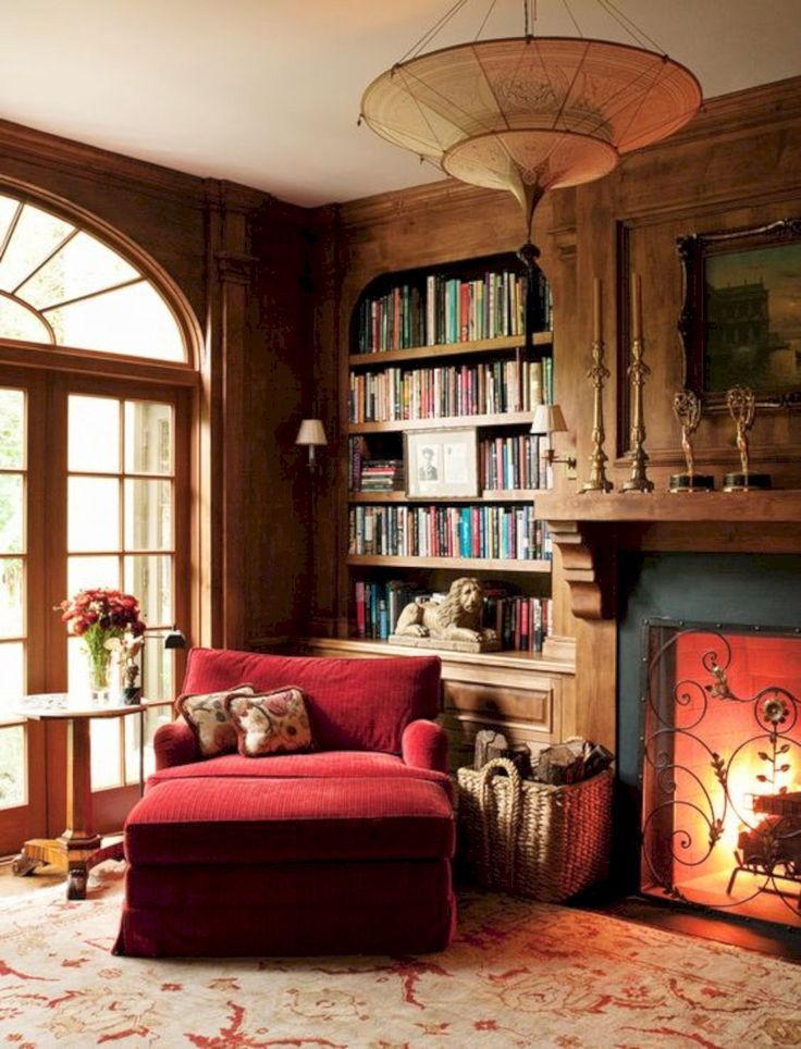 17 Traditional Home Decoration Ideas Cozy Home Library Home