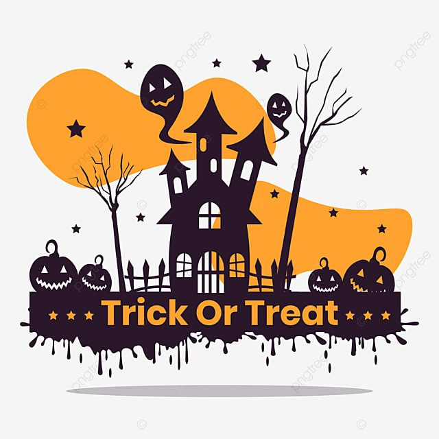 Halloween Trick Or Treat Haunted House Vector Halloween Background Horror Png And Vector With Transparent Background For Free Download In 2020 Halloween Hacks Halloween Trick Or Treat Haunted House