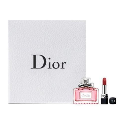 Miss Dior Absolutely Blooming EDP 5ml & Dior Rouge 999 Lipstick Gift Set BNIB