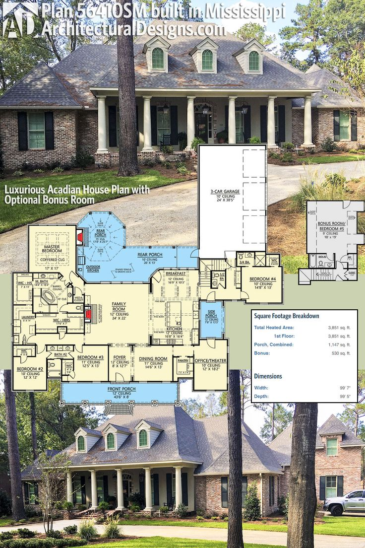154 Best Acadian Style House Plans Images On Pinterest