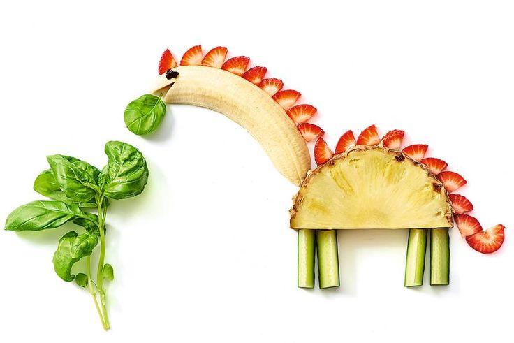 Is je kind gek op dino's? Geef hem (of haar) dit woensdagmiddag-knutselproject. Gezond en eetbaar!- Recept - Allerhande