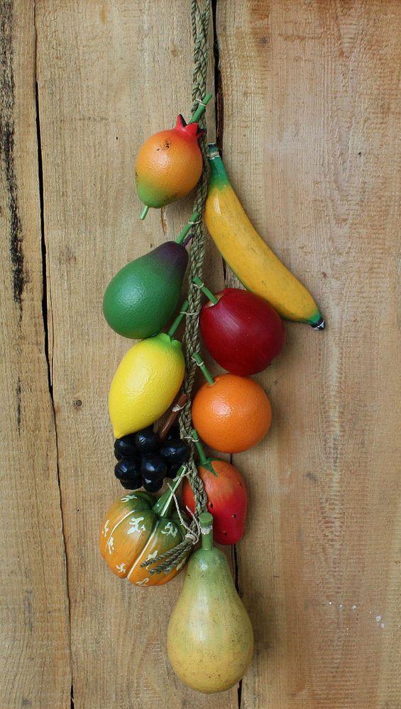 TROPISCHE FRÜCHTE Holzfrüchte Hängeelement Dekofrüchte Dekoobst Holz Dekofrucht | Möbel & Wohnen, Dekoration, Sonstige | eBay!