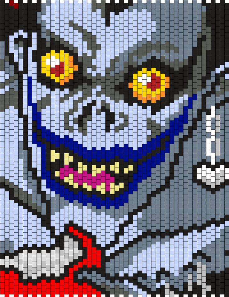 Ryuk From Death Note Bead Pattern by maninthebook