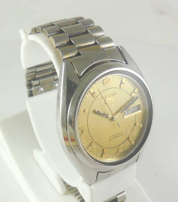 Original Vintage Seiko 5 Automatic 21j Japan 7019 Running Watch D D 3 Ew 291 Seiko 5 Automatic Vintage Watches Running Watch
