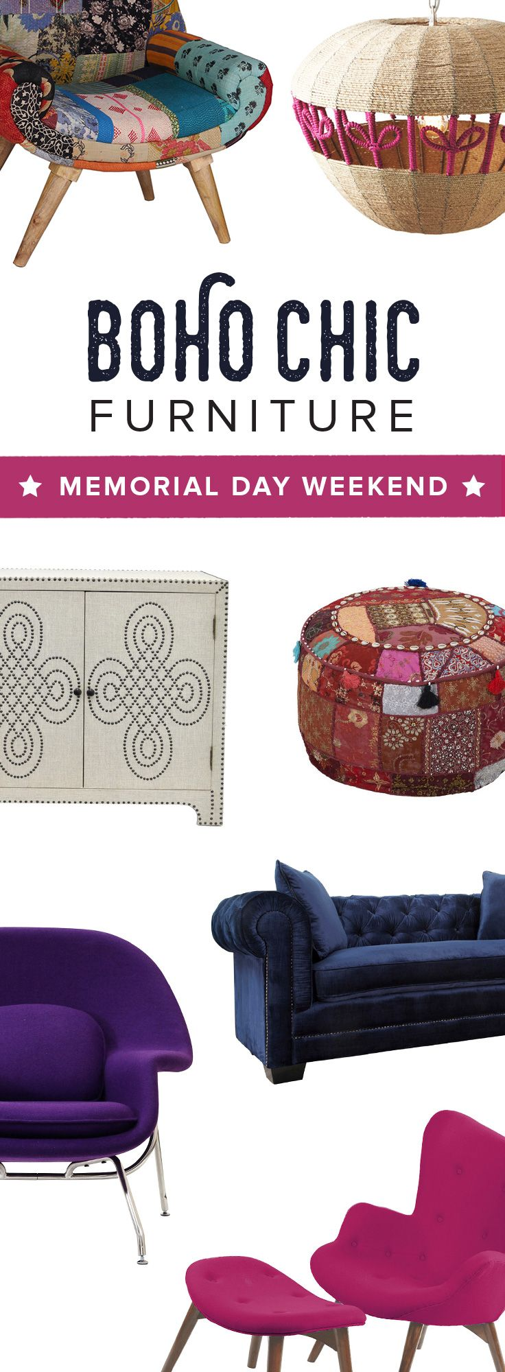 Memorial Day Weekend Clearance Sale! Shop Modern Bohemian Furniture & Décor Before It's All Gone at dotandbo.com | Sale Runs 5/22/15-5/25/15