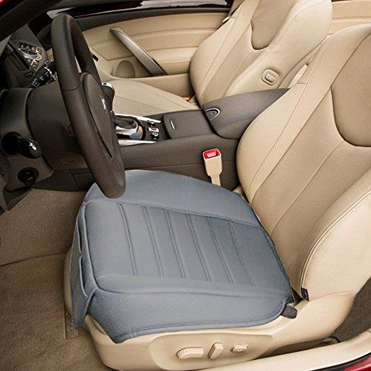 Amazon.com: Edge Wrapping 2pc Car front Seat Cushion Cover Pad Mat for Auto Supplies Office Chair with PU Leather Bamboo Charcoal(Grey): Automotive