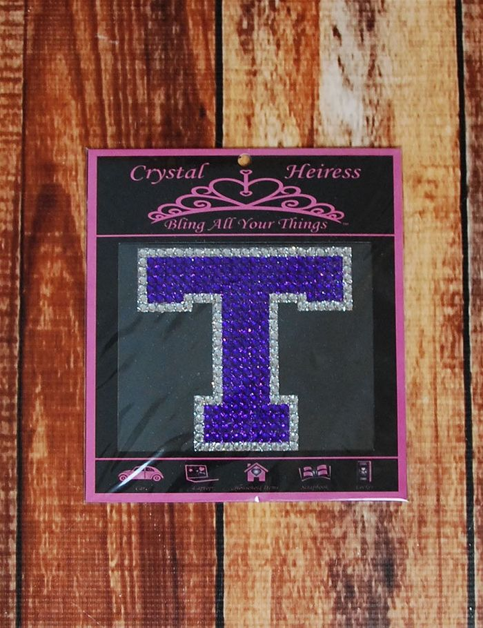 Tarleton State Rhinestone Decal! Catch everyone's eye with this blinged out Block T... after all, it is a customer favorite! This is perfect for your car/laptop/notebook!