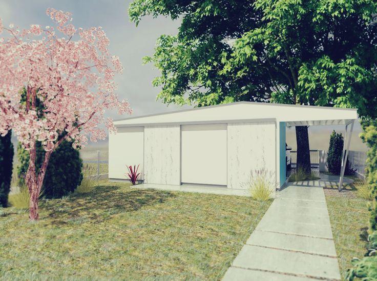 záhradný domček_Skp8+V-ray+PS CS5