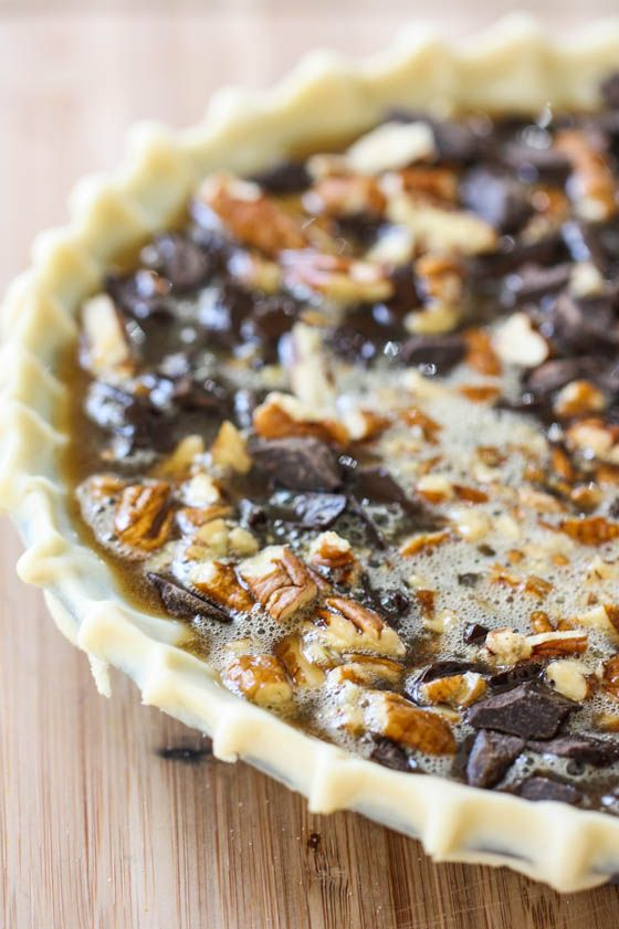 "Chocolate Bourbon Pecan Pie also known ""Kentucky Derby Pie"" ~ a wonderful recipe"