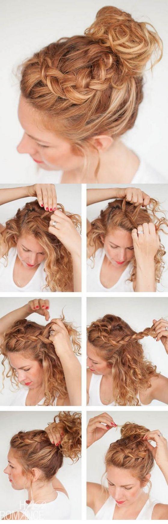 peinados fáciles para cabello rizado