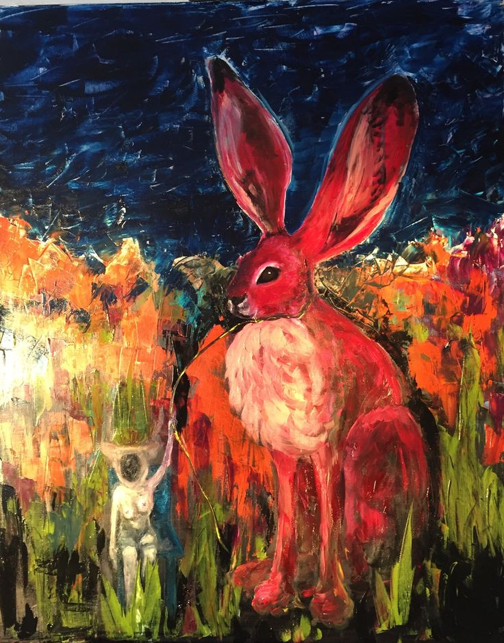 The Giant Bunny Will Protect Me, 2016 oil on canvas Anu Pensola