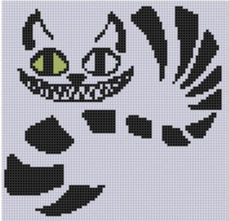 Cheshire Cat Cross Stitch Pattern | Craftsy
