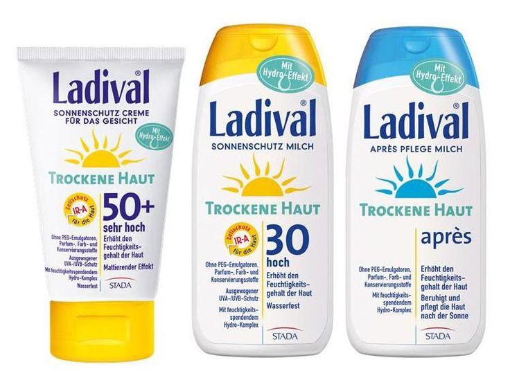 Neu in Februar 2016 von Ladival: Sonnenschutz-Serie für Trockene Haut und Après-Spray mit Blaualgenenzym Photolyase