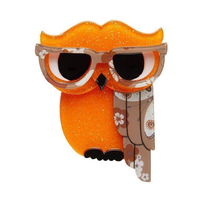 Waldo The Wacky Wise Owl Brooch